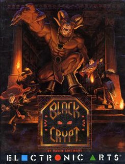 <i>Black Crypt</i> Role-playing video game for the Commodore Amiga from 1992