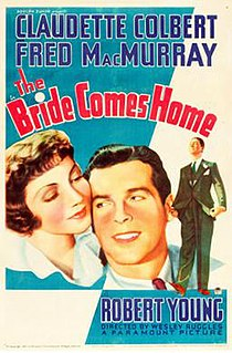 <i>The Bride Comes Home</i> 1935 film by Wesley Ruggles