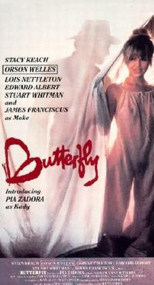 Butterfly (1982 film) - film poster by Tom Chantrell