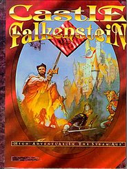 The cover of Castle Falkenstein, Pondsmith's most critically acclaimed game.