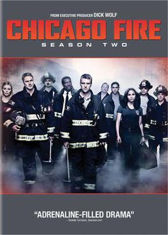 Chicago Fire (season 2) - Region 1 DVD cover art