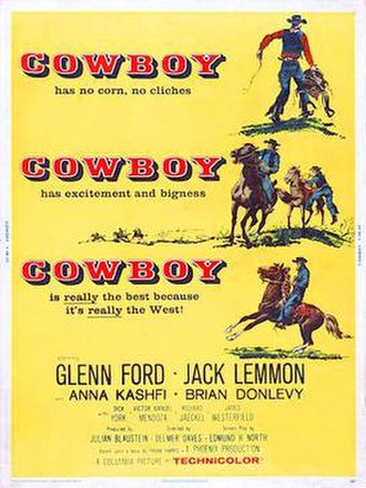 Cowboy (1958 film) - 1958 Theatrical Poster