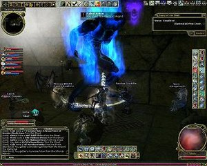 Dungeons & Dragons Online - Party of six players fighting a Cinderspawn boss
