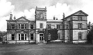 Front view of Darlaston Hall near Stone, Staff...