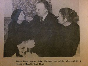 Vasil Laçi - Enver Hoxha meeting with Llaci's mother and sister