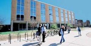 Eugene C. Eppley Center - Front facade of the Eppley Center