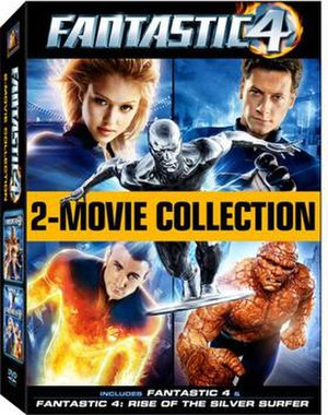 Fantastic Four in film - Cover of Fantastic Four - 2-Movie Collection, the 2007 DVD box set of the first two films