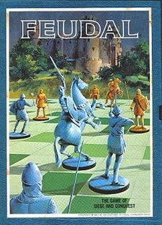 Feudal (game) chess-like board wargame