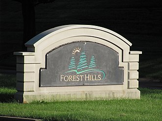 Forest Hills, Pennsylvania - Image: Fhsign