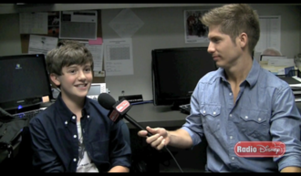 "Radio Disney - Greyson Chance being interviewed during ""Celebrity Take with Jake""."