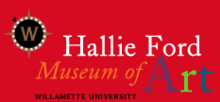 "Logo has the museum's name and a ""W"" in a circle above it, Willamette University's seal."