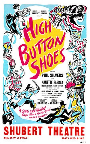High Button Shoes - 1947 Original Broadway Production Poster
