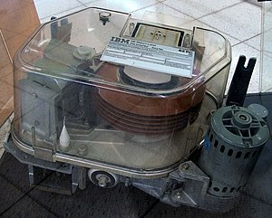Old IBM Hard Disk Drive.