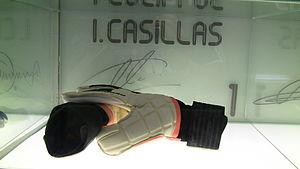 Iker Casillas - Casillas' gloves on display at the Santiago Bernabeu museum