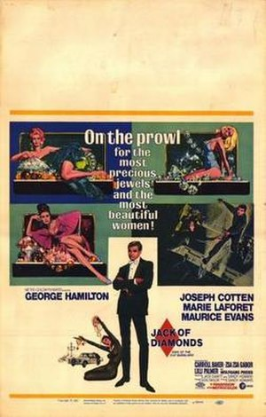 Jack of Diamonds (1967 film) - Original film poster by Robert McGinness