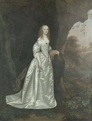 Joan Carlile - Joan Carlile's Portrait of a lady, possibly Lady Anne Wentworth.  Oil on canvas (125 x 101 cm)