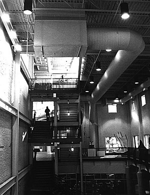 Kendall College of Art and Design - Kendall Building atrium stairs
