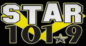 "KMVX - KNOE-FM's logo as ""Star 101.9,"" used until March 3, 2013"