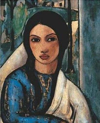 Cuban art - La Gitana Tropical, 1929, by Víctor Manuel.