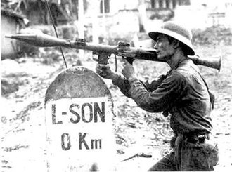 Battle of Lạng Sơn (1979) - A Vietnamese soldier armed with an RPG-7 grenade launcher defending Lang Son in 1979