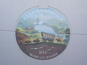 The seal of Leavenworth, Kansas