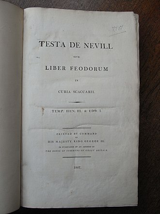 Book of Fees - Title page of 1807 edition
