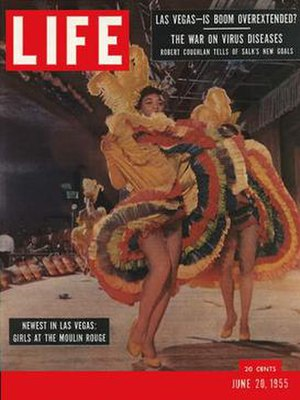 Moulin Rouge Hotel - Cover of Life magazine, June 20, 1955