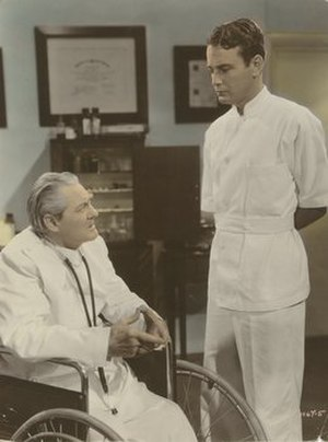 "Dr. Kildare - Lionel Barrymore as Dr. Gillespie and Lew Ayres as Dr. Kildare in Young Dr. Kildare (1938), the first of nine MGM ""Dr. Kildare"" series films in which the duo appeared"