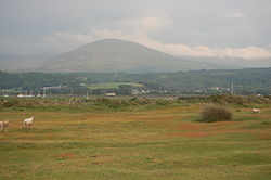 Llanbedr and Moelfra from Llandanwg Church.jpg