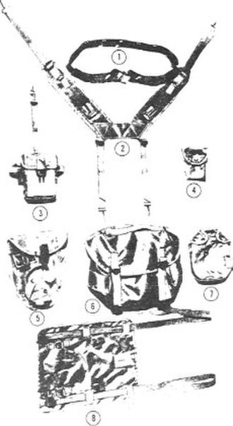 Modernized Load-Carrying Equipment - Original components of the M-1967 MLCE circa 1967