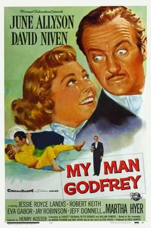 My Man Godfrey (1957 film) - Theatrical release poster