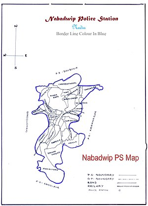 Nabadwip - Nabadwip PS Map
