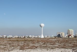 Navarre Beach with water tower.JPG