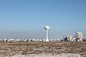 Navarre, Florida - Image: Navarre Beach with water tower