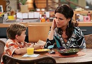 "The New Adventures of Old Christine - Trevor Gagnon and Julia Louis-Dreyfus in Season 1; Episode 3 ""Open Water""."