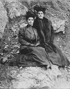 Rose Lambert - Norah and Rose Lambert (photograph taken around 1909)