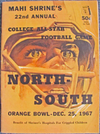 North–South Shrine Game - Program cover from 1967 game
