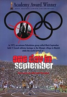 <i>One Day in September</i> 1999 documentary by Kevin Macdonald