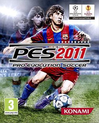 Pro Evolution Soccer 2011 - Cover art featuring Lionel Messi