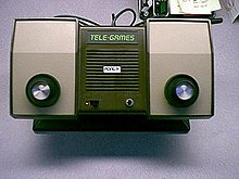 Photograph of a dedicated video game console.
