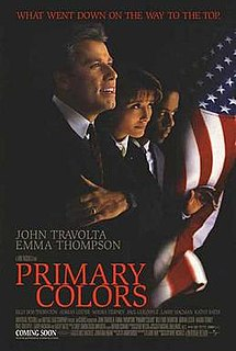 <i>Primary Colors</i> (film) 1998 American drama film directed by Mike Nichols