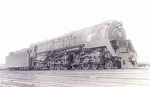 Pennsylvania Railroad class Q2 - Front angle view of a Q2.