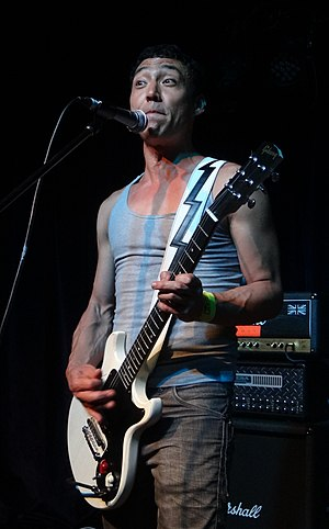 Quan Yeomans - Quan Yeomans performing with Regurgitator in Sydney on 31 December 2012.