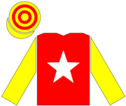 Racing silks of Luciano Gaucci.png