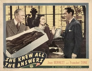 <i>She Knew All the Answers</i> 1941 film by Richard Wallace