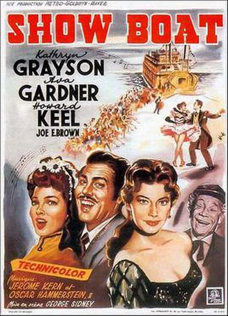 "Show Boat - French poster from the 1951 MGM film version of ""Show Boat"""