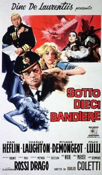 Under Ten Flags - Italian film poster