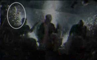 The Station nightclub fire - Screenshot of the Butler video, showing the beginnings of the fire.