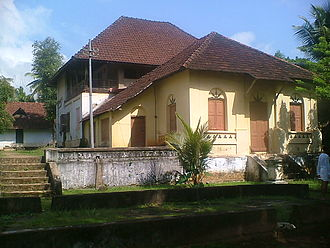 Kilimanoor Palace - Birthplace of Raja Ravi Varma with his studio in the foreground