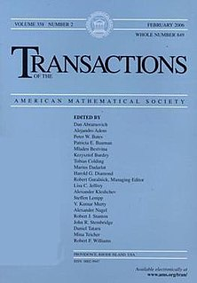 <i>Transactions of the American Mathematical Society</i> journal